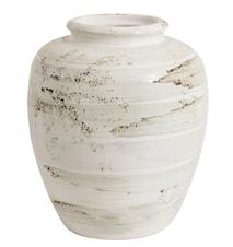 Krukke antik 33 cm - Hvid