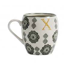 LETTER cup, X