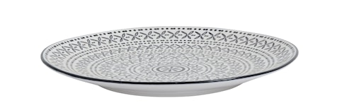 INCA cakeplate, black/white