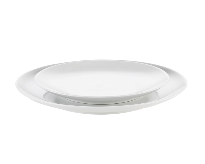 Cecil tallerken flat hvit, Ø 16 cm