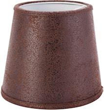 Queen Lampeskærm Læder Brun 12 cm