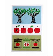 Omenahillo Keittiöpyyhe, Punainen