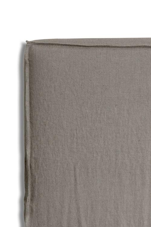 Sänggavel m. Klädsel Mira Loose-fit stone 120x140