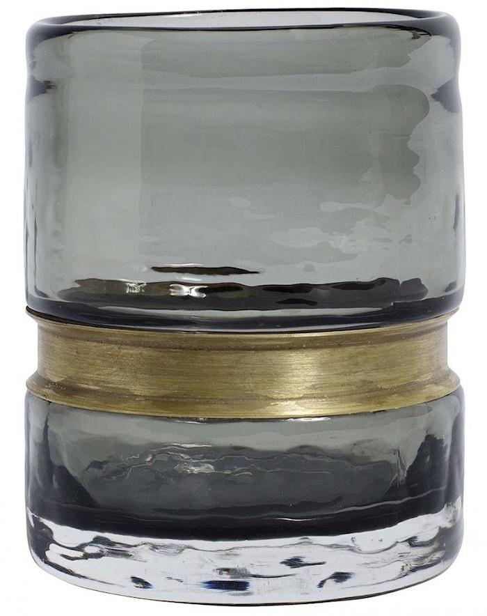 RING Vas/Värmeljus hållare Glas Smoke