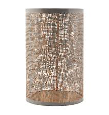 Ljuslykta Ø 12,5x19,5 cm - Grå/guld