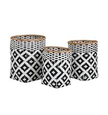 Baomboo kurver small svart/hvit - sett med 3