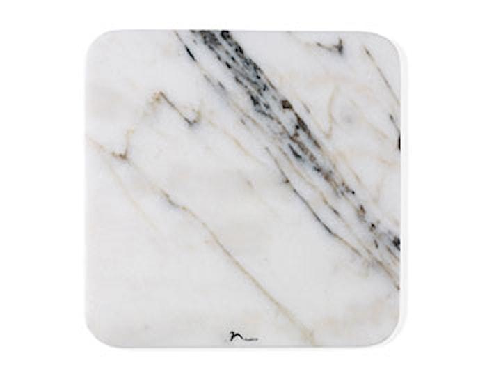 Tarjoiluvati30x30x1 valkoista marmoria