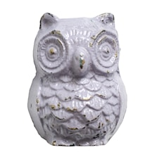 Nuppi Owl rautaa 5x4 cm - Violetti