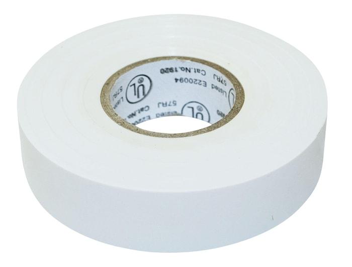 Elektrisk Tape 20m Hvid 19x0,15mm