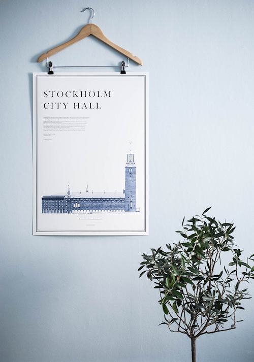 Stockholm city hall poster