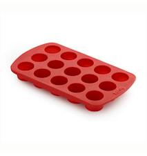 Pralinform Cylinder x15 Silikon Röd