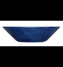 Teema tallerken dyb 21 cm meleret blå