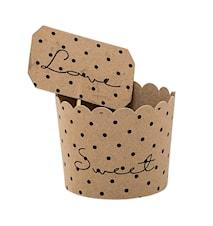Muffinsivuoat paperia 8-pack