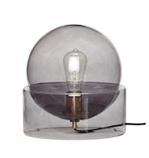 Bordslampa Glas Grå 29cm