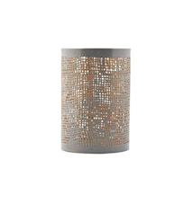 Lysholder Ø 8x12 cm - Grå/guld