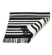 Cotton matta - Black/offwhite, striped