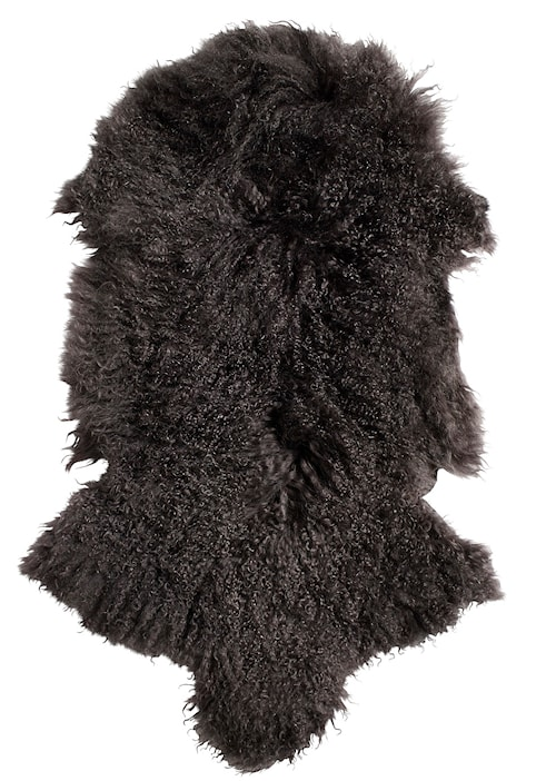 Lamb fur teppe – Warm grey