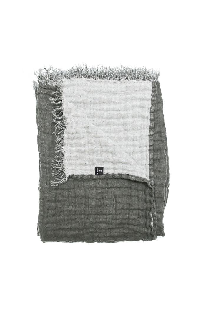 Hannelin Viltti Tummanharmaa/Valkoinen 130x170