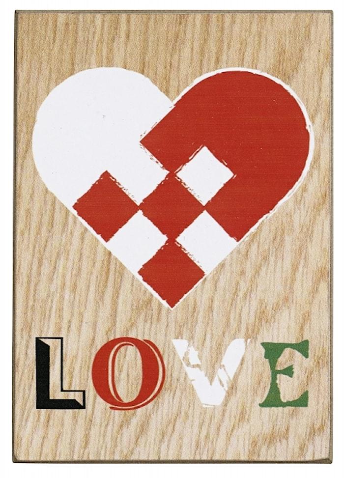 WOOD Julkort Love