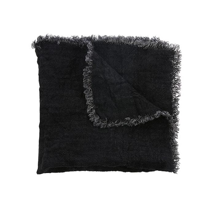 Servetter Linne Set med 2st Svart 45x45 cm