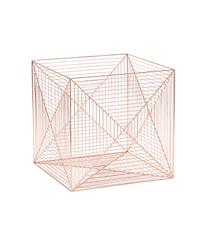 Square fil-de-fer förvaringskorg - Koppar