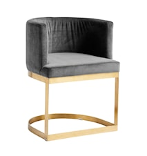 Lounge matbordsstol i sammet Grå