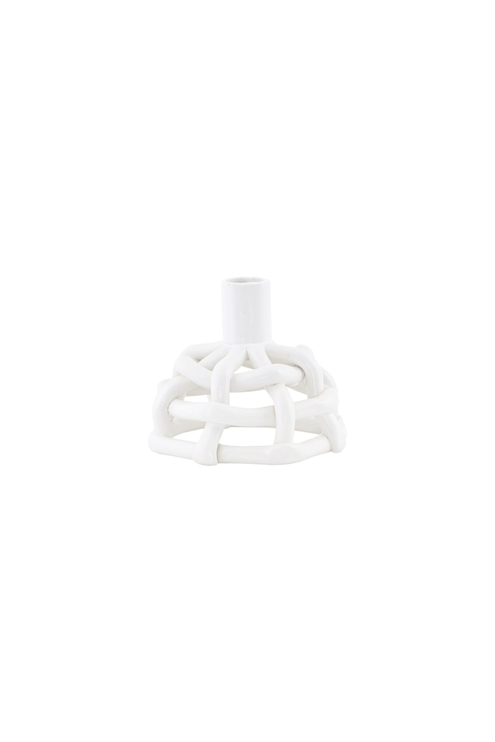 Ljusstake Skills Ø10x8,5cm Vit