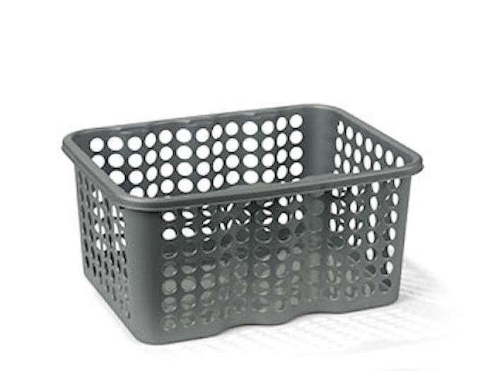 Rondo Plastikkurv Sølv 6 L