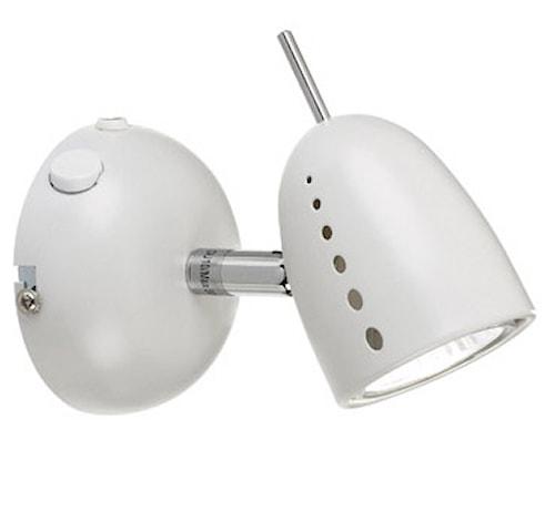 Tobo Væglampe 1 Lys Krom/Hvid