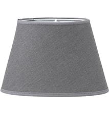 Oval Lampskärm Lin Grå 25cm