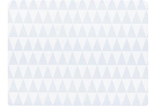 Dækkeserviet - Gummi - Hvit - H 0,5cm - L 40,0cm - B 30,0cm