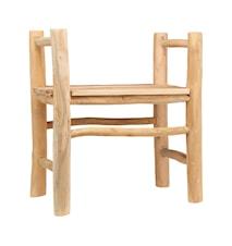Teaky, Stol/Pall, (Seat height: 45 cm) (L: 55 cm, W: 55 cm, H: 80 cm)