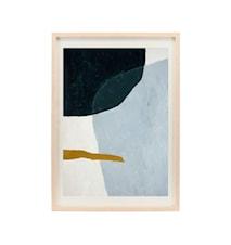 Illustration w. frame, Artistic, Oak ,l: 2.5 cm, w: 50 cm, h: 70 cm