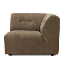 Vint Sofa: Element C, Corduroy rib, Brun