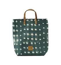 Shopping bag, Dots, Green, 41x38 cm
