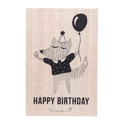 Födelsedagskort Räven