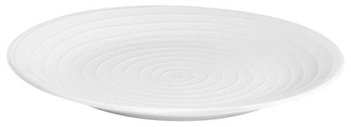 Blond Tallerken Hvid/Rand 22 cm