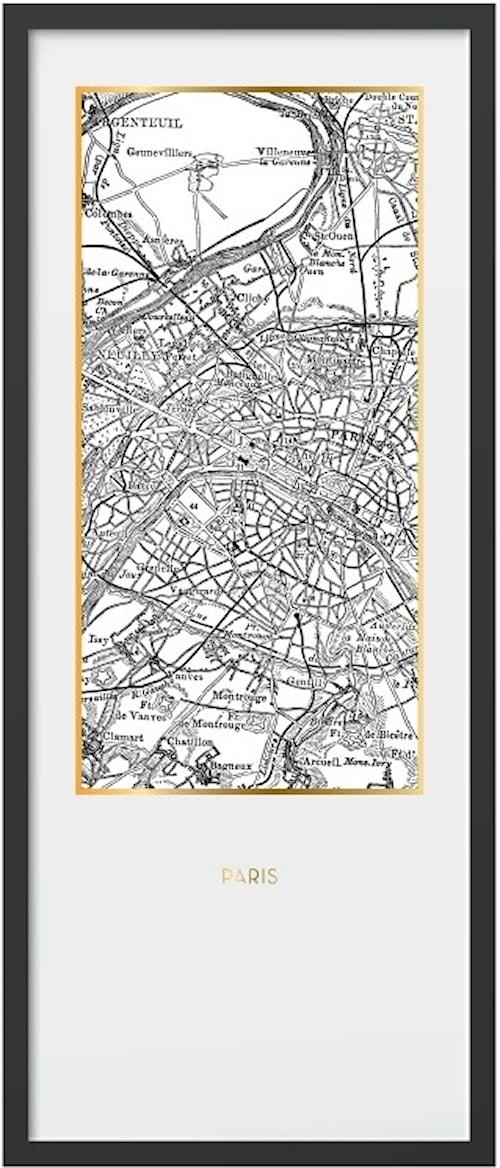 Framed print Paris – 50x120