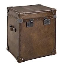 London trunk - vintage leather