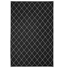Diamond Dhurry Matta Ull Mörkgrå/Off White 230x336 cm