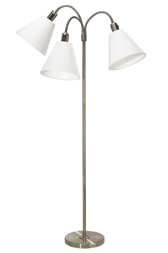 Golvlampa Cia 3-arm med Toppringsskärmar
