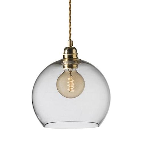 Lampskärm Rowan 22 cm - Transparent