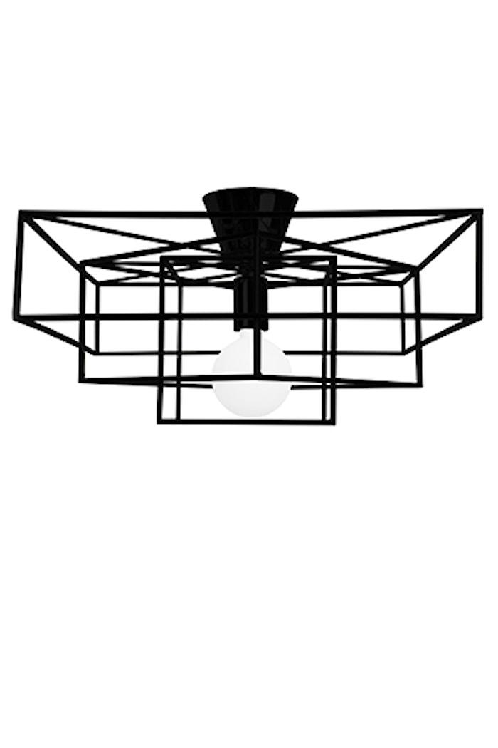 Plafond Cube Mattsvart