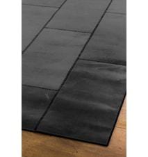 Leather Black Gulvtæppe - 90x210