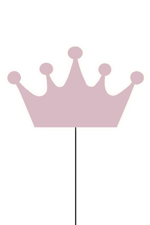 Crown Vägglampa Rosa