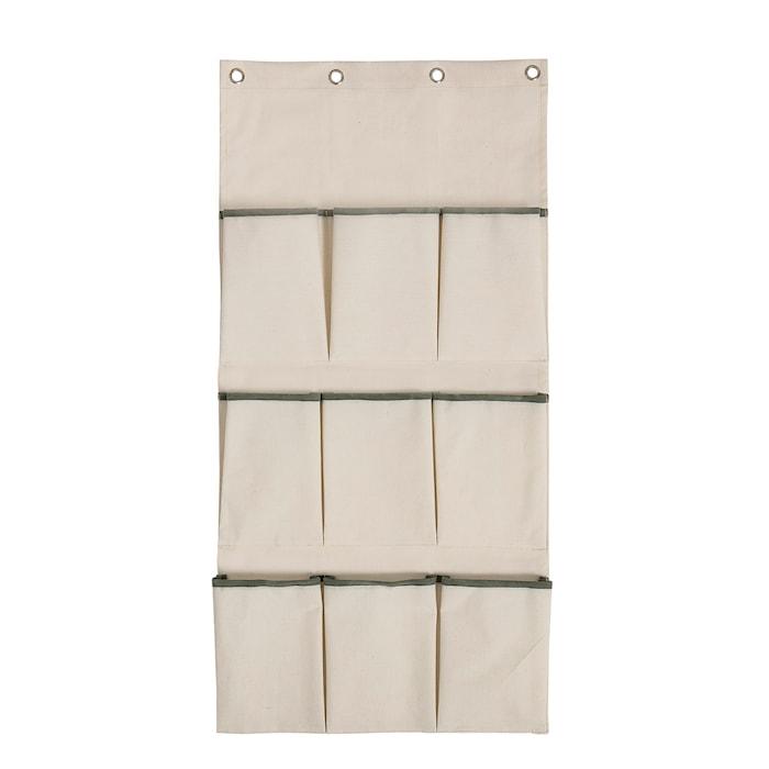 Vægopbevaring med lommer 120x60 cm