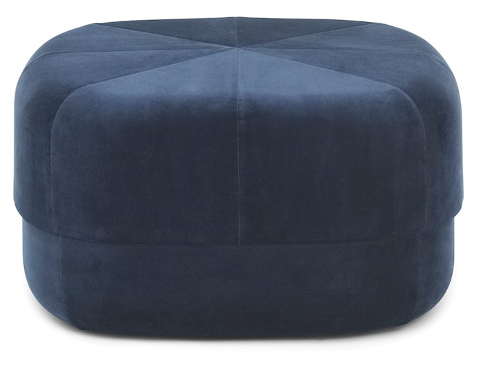 Circus pouf sittepuff velour large - Dark blue