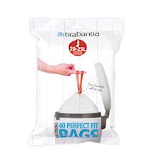 PerfectFit Avfallspåse J 20-25L(40 påsar per förpackning)