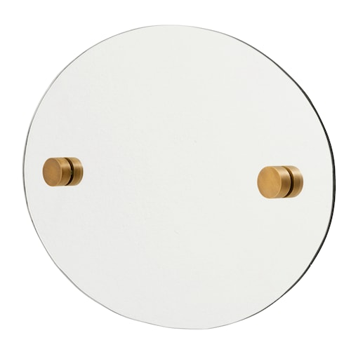 Oval spegel 35x50 cm - Mässing