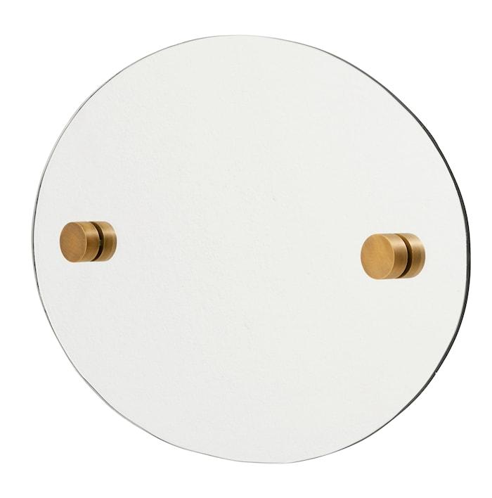 Oval speil 35x50 cm - messing